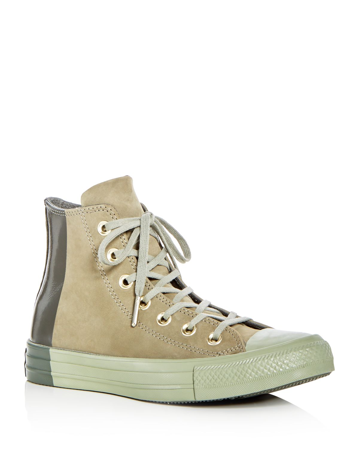 Converse Women's Chuck Taylor All Star Tonal Nubuck Leather Lace Up Sneakers