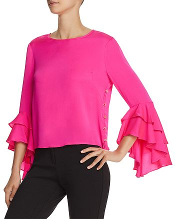 bfc203ad3b020e MILLY - Gabby Stretch-Silk Top