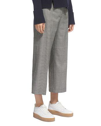 Whistles - Check Wide-Leg Crop Pants