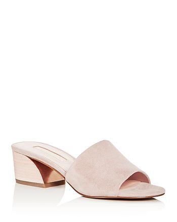 Avec Les Filles - Women's Sloane Suede Block Heel Slide Sandals