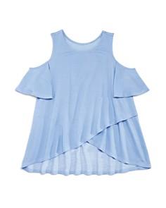 AQUA Girls' Asymmetrical Cold-Shoulder Top, Big Kid - 100% Exclusive - Bloomingdale's_0
