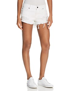 Pistola - Gigi Distressed Cutoff Denim Shorts in White Lies