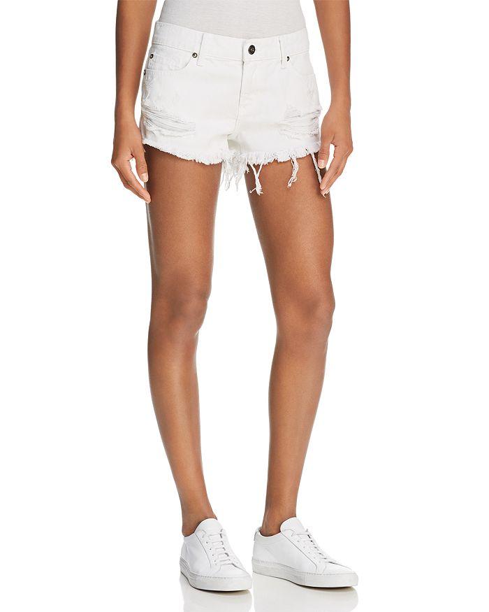Pistola - Gigi Distressed Cutoff Denim Shorts in White Lies