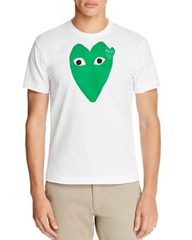 Comme Des Garcons PLAY - Green Heart Short Sleeve Tee