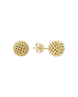 Lagos Caviar Gold Collection 18K Gold Stud Earrings