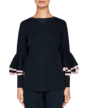 Ted Baker Ted Says Relax Bernae Frill-Sleeve Sweatshirt