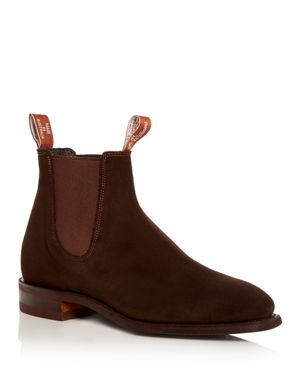 R.M.WILLIAMS Men'S Suede Chelsea Boots in Brown Suede