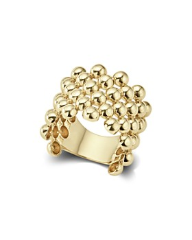 LAGOS - Caviar Gold Collection 18K Gold Wide Beaded Ring