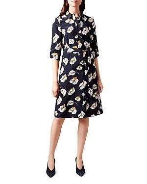 Hobbs London Beatrice Floral Print Shirt Dress