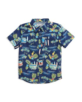 Sovereign Code - Boys' Tropical Surf Short-Sleeve Poplin Button Down - Little Kid, Big Kid