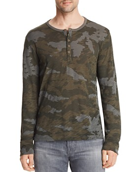 ATM Anthony Thomas Melillo - Camouflage Long Sleeve Henley Shirt - 100% Exclusive