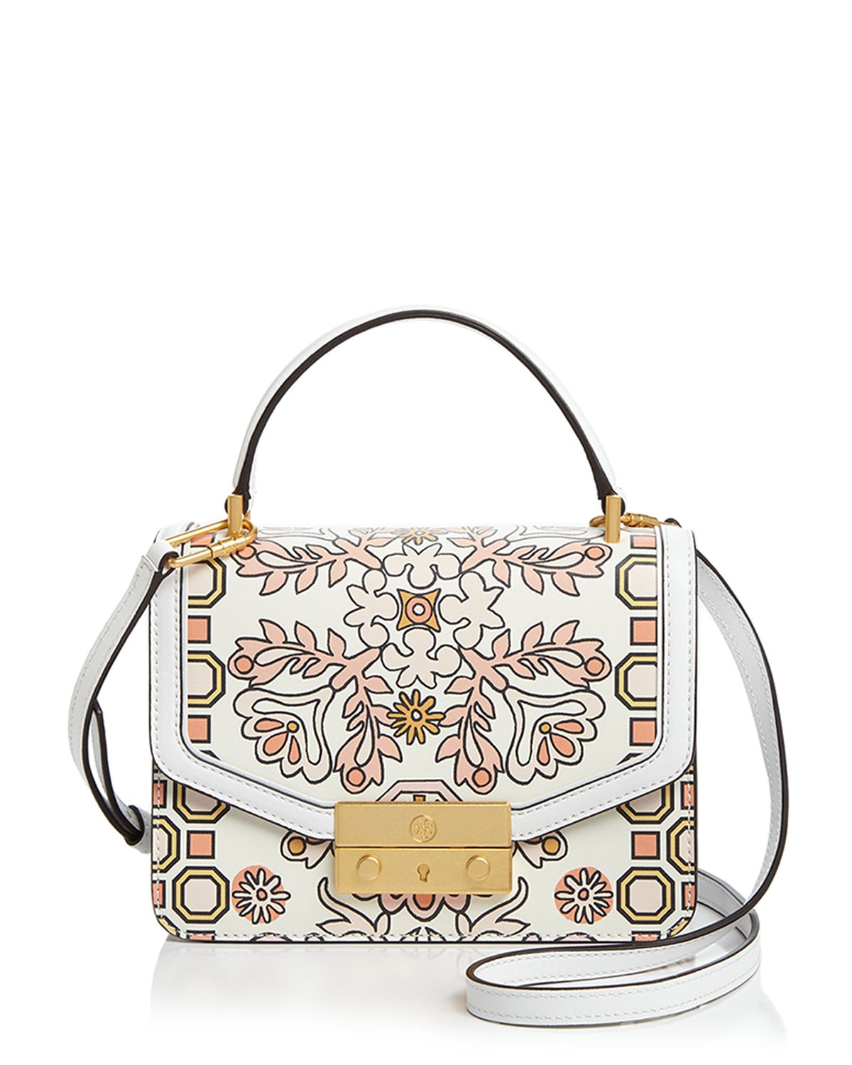 Juliette Printed Mini Leather Satchel by Tory Burch