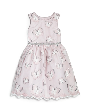 Pippa & Julie Girls' Embellished Butterfly Dress & Bloomers Set - Baby