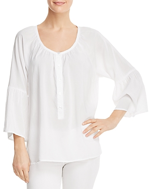 Side Stitch Bell-Sleeve Top