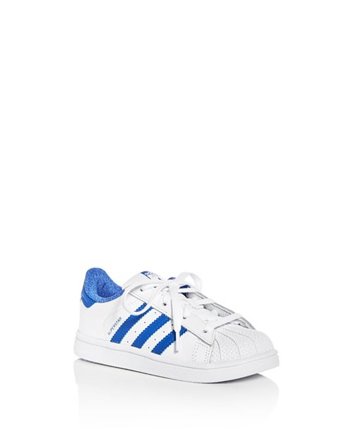 Adidas - Unisex Superstar Embossed Leather Lace Up Sneakers - Walker, Toddler
