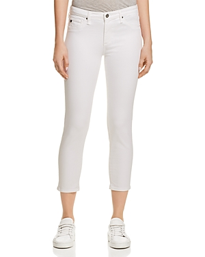 Ag Prima Crop Jeans in White-Women