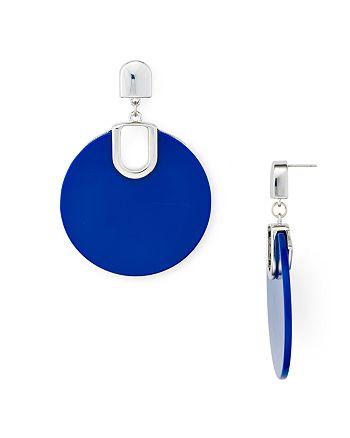 AQUA - Large Disc Drop Earrings - 100% Exclusive