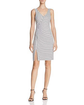 AQUA - Directional Striped Dress - 100% Exclusive