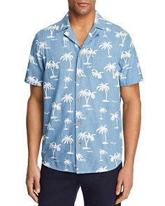 BANKS Palm Tree Short Sleeve Button-Down Shirt - 100% Exclusive - Bloomingdale's_0