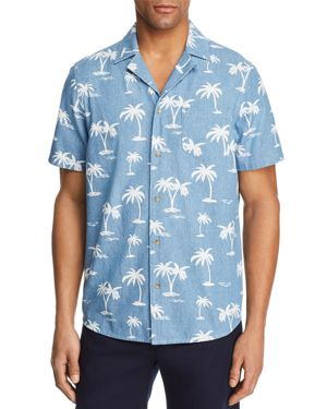BANKS PALM TREE SHORT SLEEVE BUTTON-DOWN SHIRT - 100% EXCLUSIVE