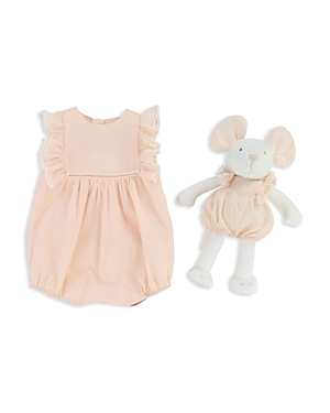 Chloe Girls' Ruffled Coverall & Mouse Set - Baby