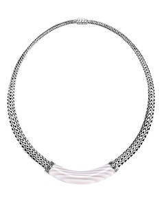 "John Hardy Sterling Silver Classic Chain White Agate Graduated Necklace, 16"" - Bloomingdale's_0"