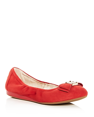 Cole Haan Women's Tali Suede Bow Ballet Flats