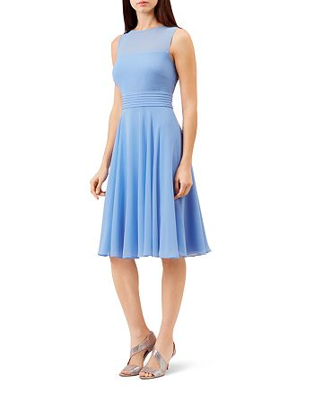 HOBBS LONDON - Ashling Pleated A-Line Dress
