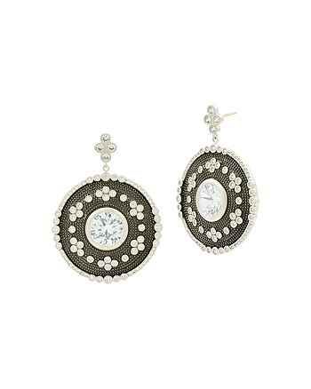 Freida Rothman - Large Oval Drop Earrings