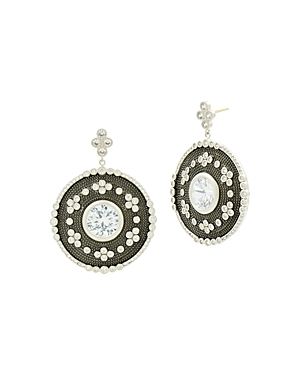 Freida Rothman Large Oval Drop Earrings