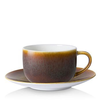 Royal Crown Derby - Art Glaze Flamed Caramel Tea Cup