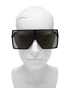 Saint Laurent - Women's Betty Oversized Square Shield Sunglasses, 68mm
