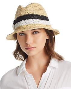 kate spade new york Crochet Bicolor Bow Trilby Hat - Bloomingdale's_0