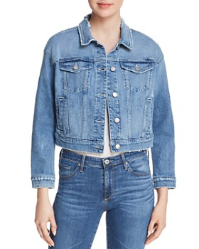 Joe's Jeans - Ruffle Denim Jacket in Holmby - 100% Exclusive
