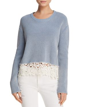Generation Love Felix Lace-Hem Sweater