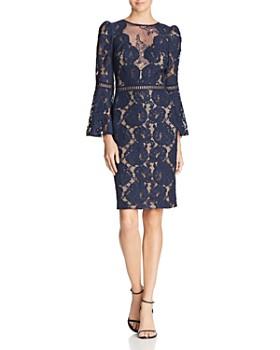 4d667e479202d Tadashi Shoji - Bell-Sleeve Lace Dress ...