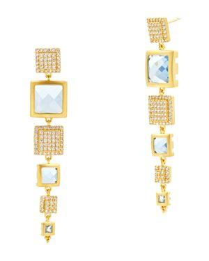 Frieda Rothman Ocean Azure Line Earrings