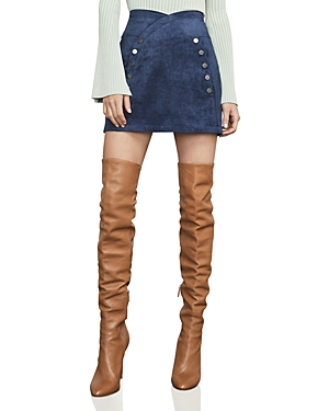 Bcbgmaxazria Ingrid Faux Suede Mini Skirt