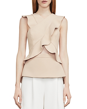 Bcbgmaxazria Irena Ruffled Cutout Top