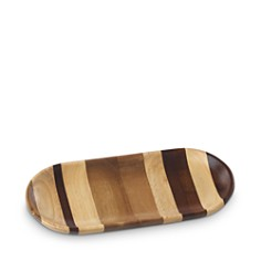 Dansk - Signy Striped Wood Small Tray - 100% Exclusive
