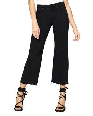 Sanctuary Flare Crop Released Hem Jeans in Black 2852648