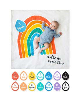 Lulujo - A Dream Come True Baby Blanket & Age Cards Set