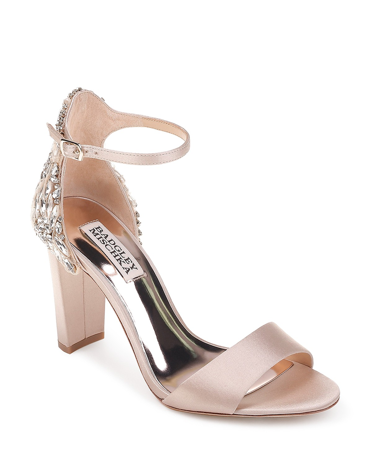Badgley Mischka Women's Seina Embellished Satin Ankle Strap Sandals NvtubuT