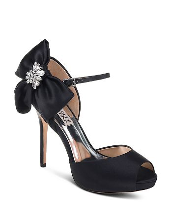 8b96d9e3d80 Badgley Mischka Women s Samra Embellished Satin Bow Platform Pumps ...