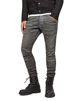 G-STAR RAW - 5620 3D Knee-Zip Super Slim Jeans in Loomer Gray
