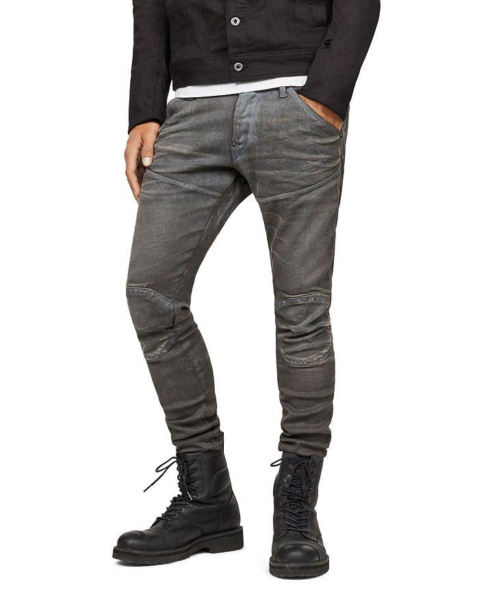 G-STAR RAW - 5620 3D Knee-Zip Super Slim Jeans in Loomer Gray