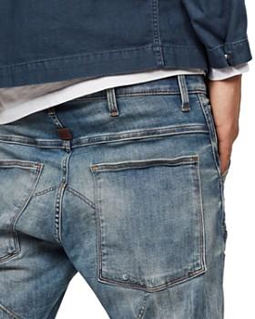 G-STAR RAW - 5620 3D Super Slim Fit Jeans in Light Vintage Aged Destroyed