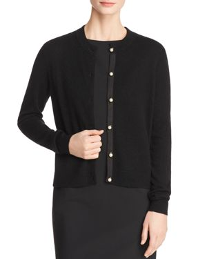 C by Bloomingdale's Faux-Pearl Button Cashmere Sweater - 100% Exclusive