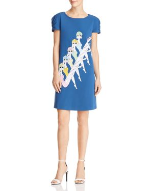 Boutique Moschino Synchronized Swimming Print Dress 2817952