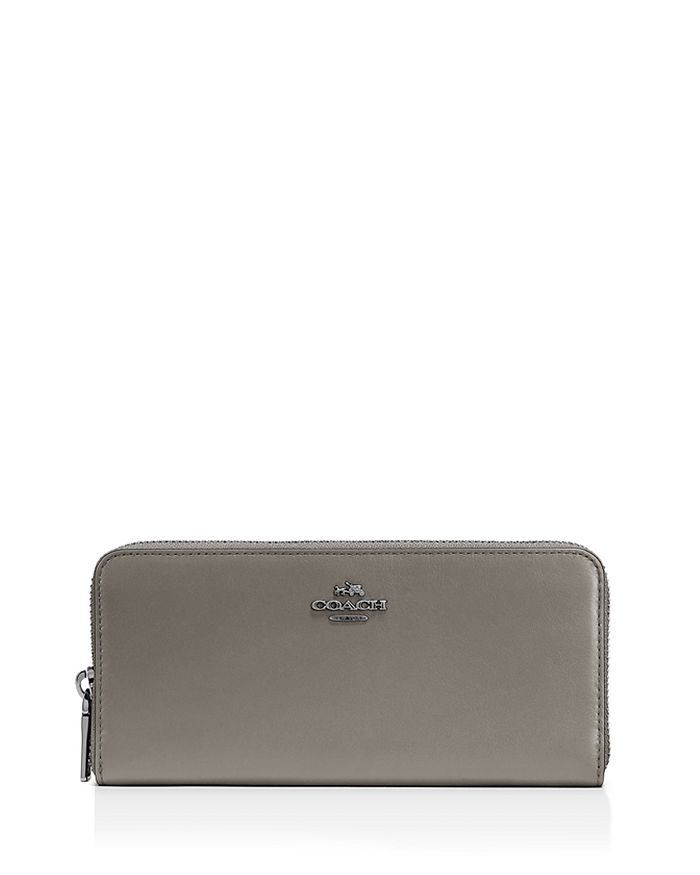 7d385507f5 COACH Slim Continental Leather Zip Wallet | Bloomingdale's